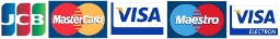 Приемаме плащане с Visa, Visa Electron, Maestro, JCB, Mastercard