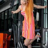 Hitachi photo session   Фото: SV Studio   Прически: HairBG   Модел: Флавия Александрова (Мис Лято 2011)