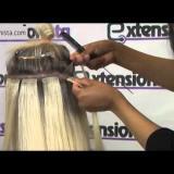 Поставяне на удължена коса със стикери