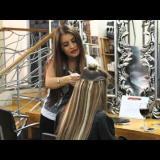 Поставяне на удължената коса с шиене